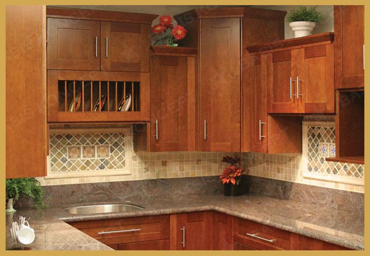 Cherry Shaker Kitchen Cabinets basiskoncept